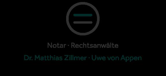 Word-Bild-Marke der Sozietät Dr. Zillmer & von Appen GbR